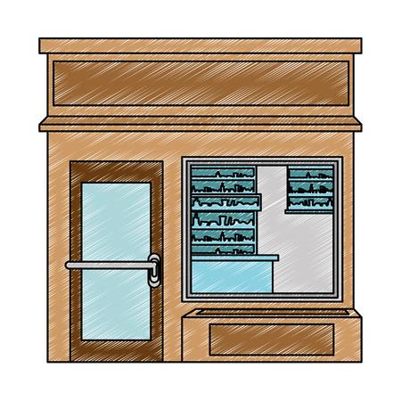 store building front facade vector illustration design Ilustracja