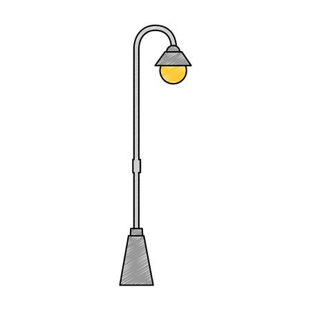 street lamp classic icon vector illustration design