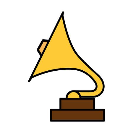 phonograph retro music icon vector illustration design Stock Illustratie