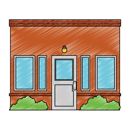 house facade front icon vector illustration design Stock Vector - 100618127