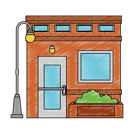 store building front facade vector illustration design Archivio Fotografico - 100618128