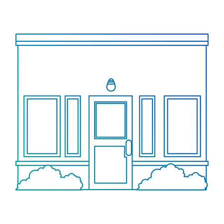 house facade front icon vector illustration design Stock Vector - 100618187