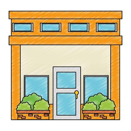 house facade front icon vector illustration design Stock Vector - 100618131