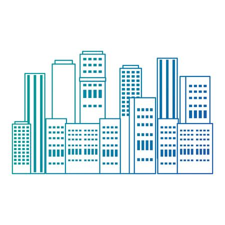 cityscape buildings scene icon vector illustration design