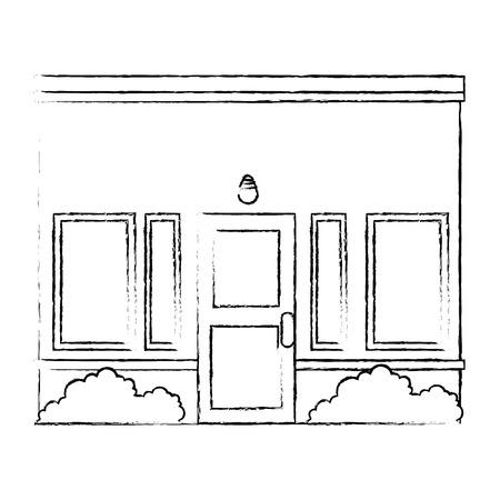 house facade front icon vector illustration design Stock Vector - 100621250