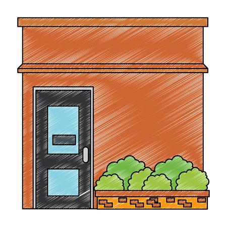 house facade front icon vector illustration design Stock Vector - 100621251