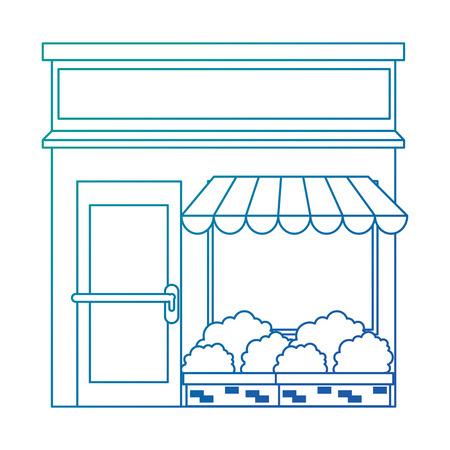 store building front facade vector illustration design 일러스트