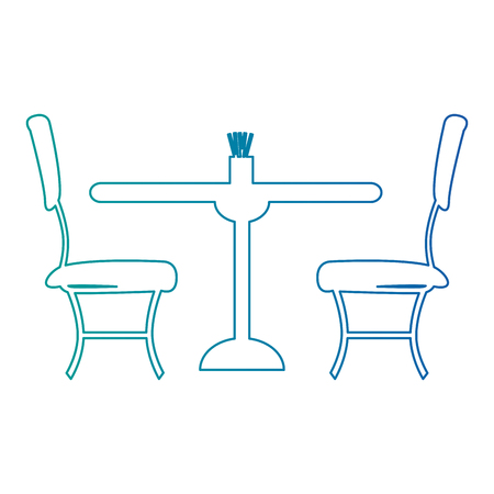 Restaurant table and chairs icons vector illustration design