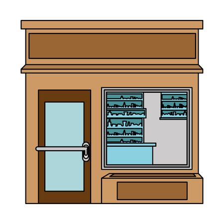 Store building front facade vector illustration design