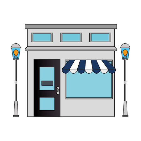 Store building front facade vector illustration design Archivio Fotografico - 100623940