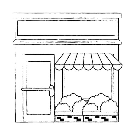 store building front facade vector illustration design Archivio Fotografico - 100641682