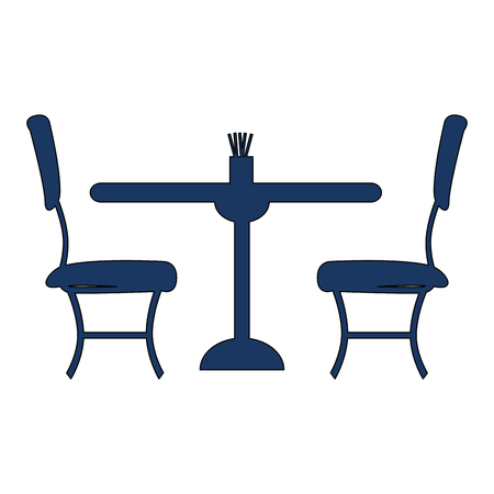 restaurant table and chairs icons vector illustration design Illustration