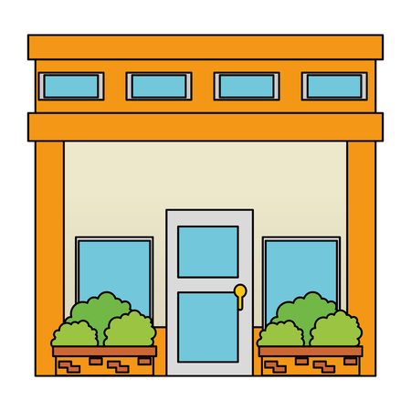 house facade front icon vector illustration design