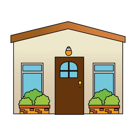 house facade front icon vector illustration design