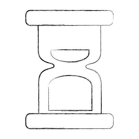 hour glass clock time image vector illustration sketch