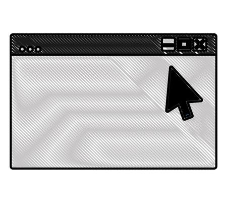 Web site page internet cursor arrow vector illustration Illustration