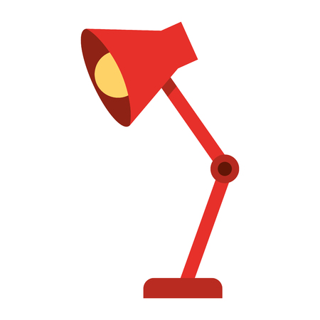 Desk lamp isolated icon vector illustration design Illustration