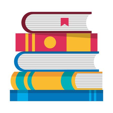 Text books pile icons vector illustration design Ilustrace