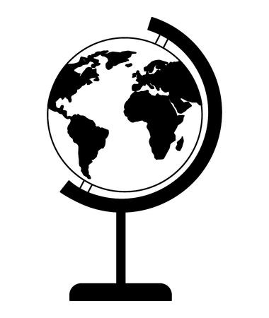 School globe world map image vector illustration.