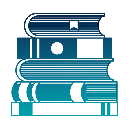 text books pile icons vector illustration design