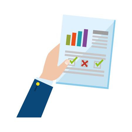 Handheben Finanzdokument Papier Vektor-Illustration Design Vektorgrafik