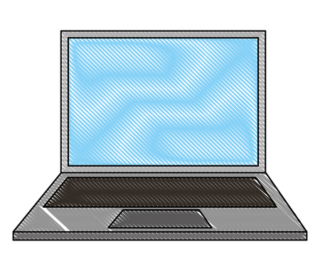 laptop computer isolated icon vector illustration design Stock Vector - 100699763