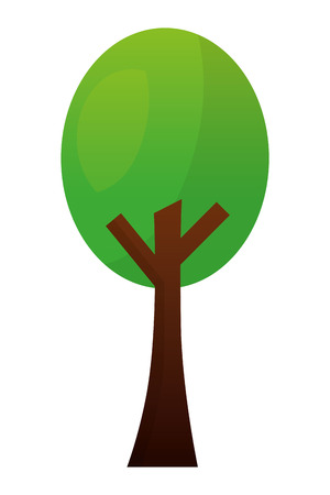 green leafy tree foliage natural image vector illustration
