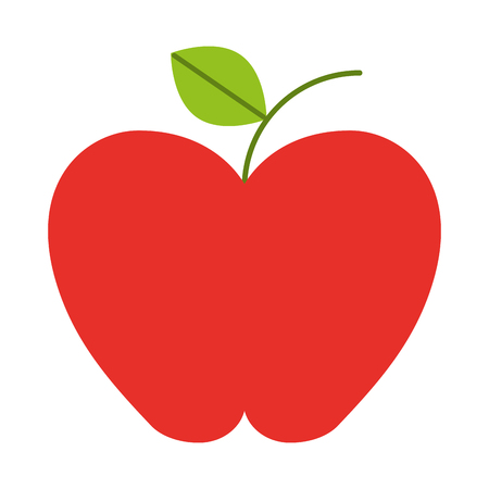 fresh apple organic fruit health vector illustration