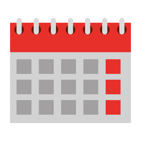 calendar planning month date time vector illustration