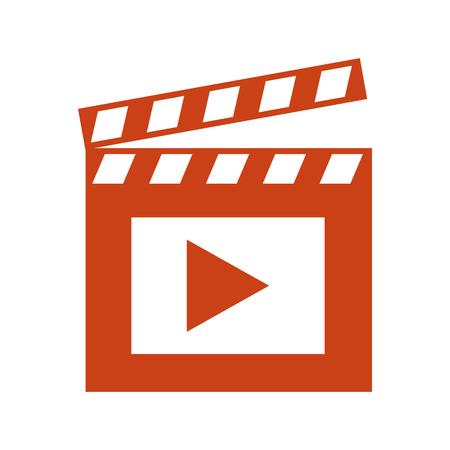 film movie clapper board image vector illustration