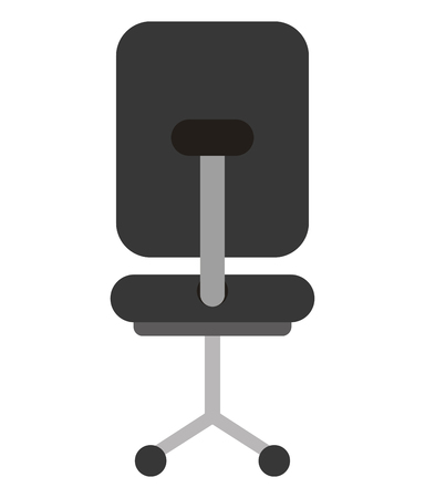 office chair furniture wheels image vector illustration Foto de archivo - 100848251