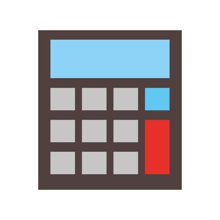 School calculator math finance device vector illustration. Иллюстрация