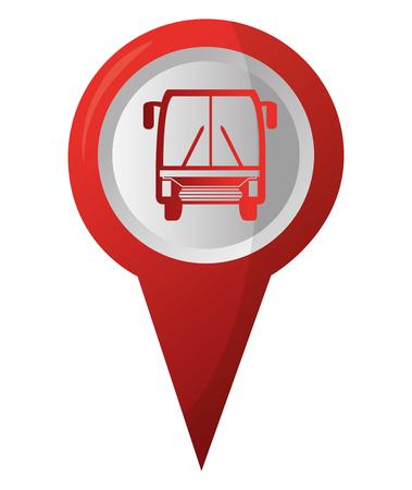 bus station pointer gps navigation location image vector illustration Ilustracja