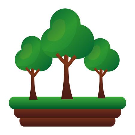 trees forest botanical natural image vector illustration
