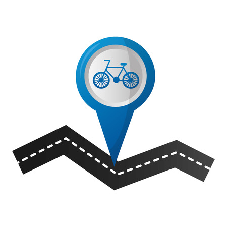 bicycle tracker route navigation mobile concept vector illustration Illustration