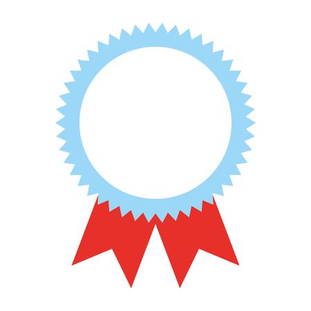 Ilustración de vector de imagen de éxito de medalla de premio de roseta.
