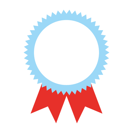 Rosette award medal success image vector illustration.