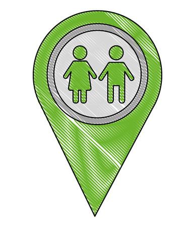 school zone pointer gps navigation location image vector illustration drawing Illustration