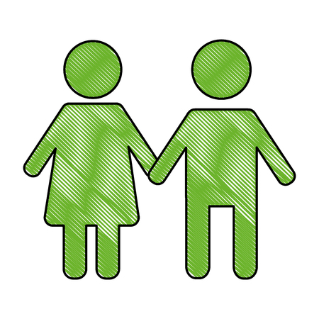 green pictogram children school zone symbol vector illustration drawing Stock Vector - 100683167