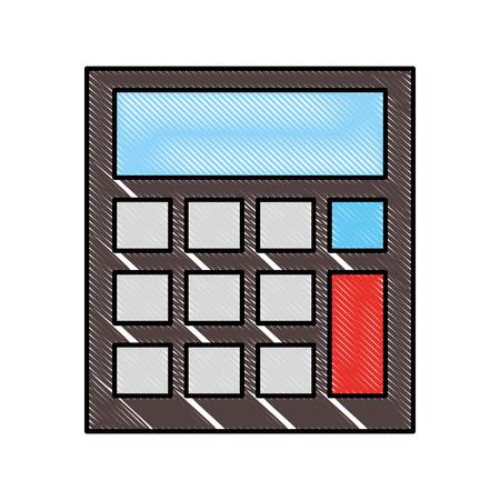 school calculator math finance device vector illustration drawing