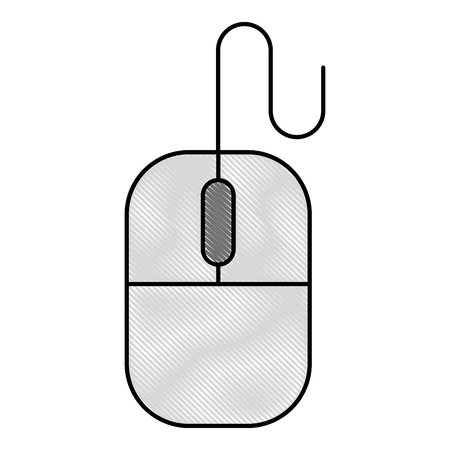 device mouse technology hardware icon vector illustration drawing