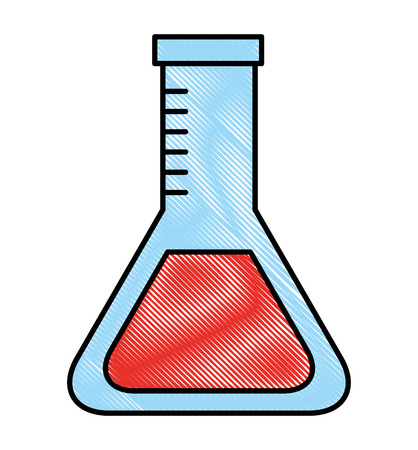 school laboratory test tube chemistry vector illustration drawing