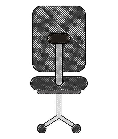 office chair furniture wheels image vector illustration drawing
