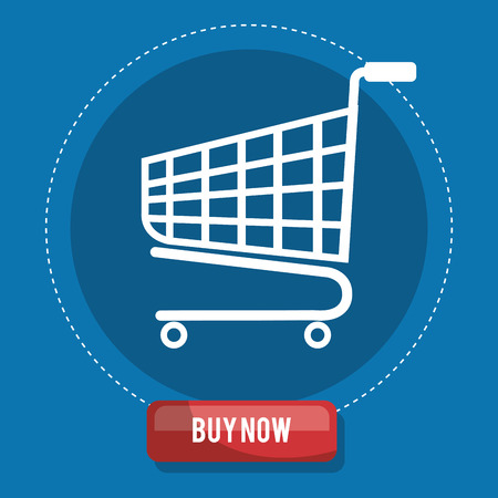 cart shopping online icon vector illustration design