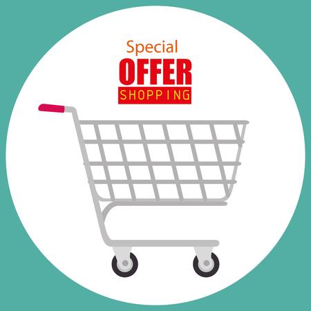 cart shopping online icon vector illustration design