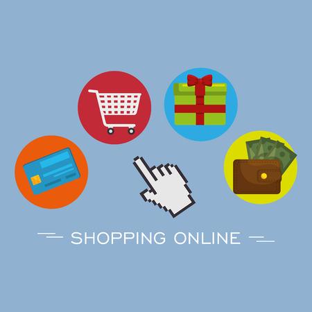 shopping online set icons vector illustration design