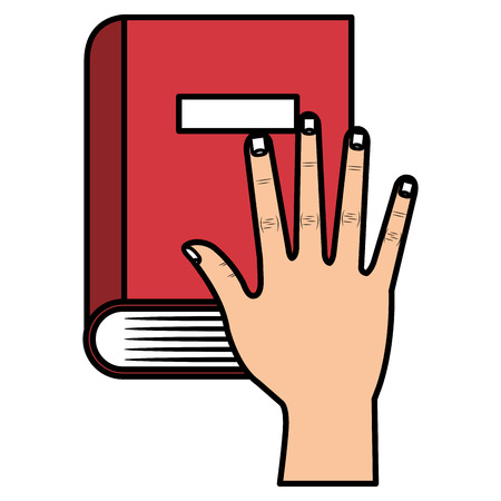 hand with book school vector illustration design 向量圖像