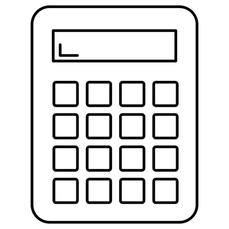 calculator math device icon vector illustration design Banque d'images - 100705543