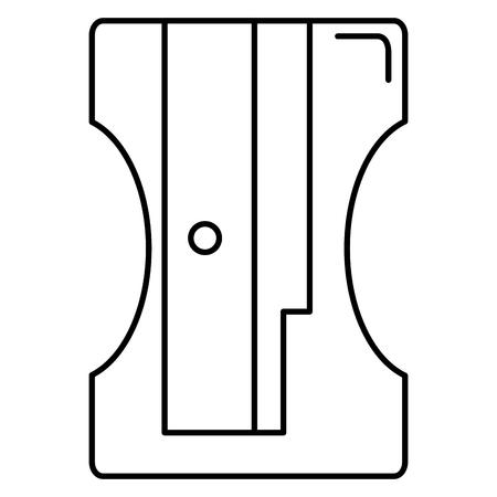 pencil sharpener supply school icon vector illustration design Ilustração