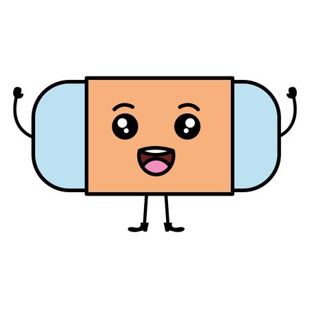 eraser school supply icon vector illustration design Illustration